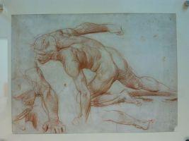 Alfred Stevens, Man crawling, 1846-80
